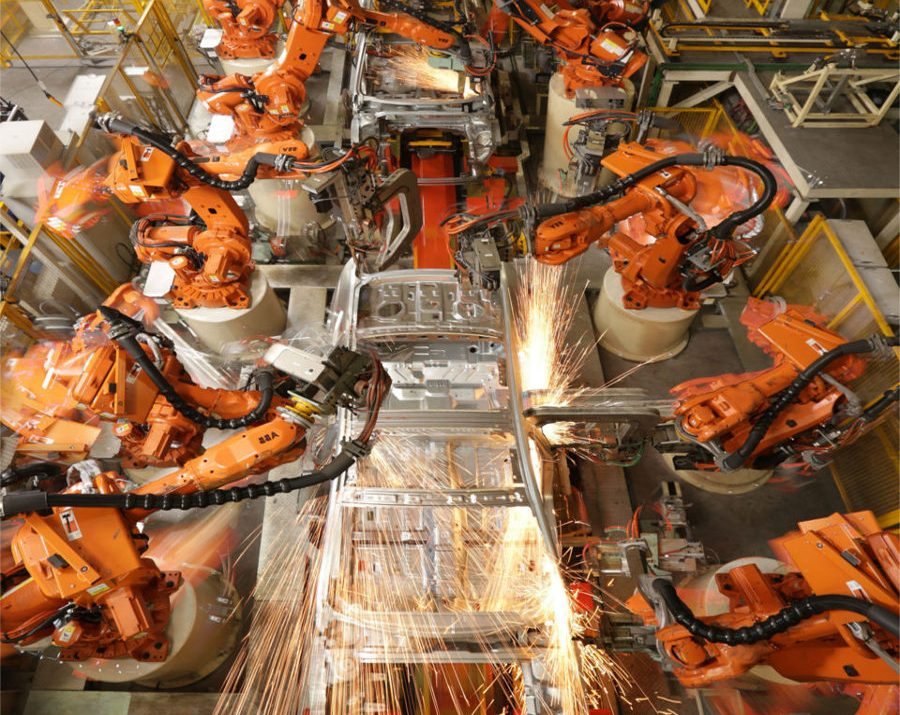 robotic Siemens plc programming industrial production line